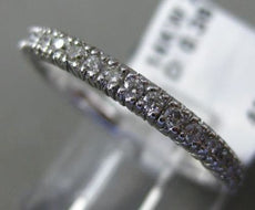 ESTATE .38CT DIAMOND 14KT WHITE GOLD FILIGREE MILGRAIN WEDDING ANNIVERSARY RING
