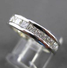 ESTATE 2.10CT PRINCESS CUT DIAMOND 14K WHITE GOLD ETERNITY ANNIVERSARY RING 6542
