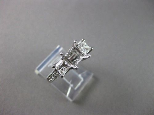 ESTATE 1.08CT DIAMOND 14KT W SEMI MOUNT FILIGTEE 3 STONE ENGAGEMENT RING #1399