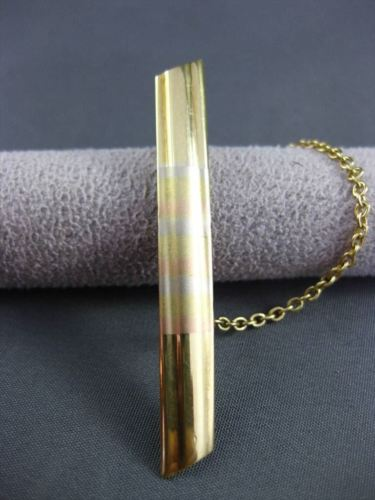 ANTIQUE 14KT WHITE YELLOW & ROSE GOLD MENS TIE BAR CLIP SIMPLY AMAZING!! #22887