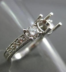 ESTATE .85CT DIAMOND 18KT WHITE GOLD FILIGREE SEMI MOUNT ENGAGEMENT RING #2423