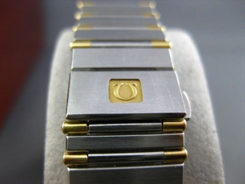 OMEGA CONSTELLATION 18KT YELLOW GOLD & STAINLESS STEEL MENS WATCH AMAZING #2013