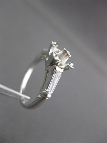 ANTIQUE .35CT DIAMOND PLATINUM CLASSIC FISHTAIL SEMI MOUNT ENGAGEMENT RING 12381