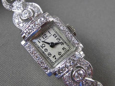 ANTIQUE LARGE 2.30CT OLD MINE DIAMOND PLATINUM HAMILTON WATCH F VVS/VS #14090
