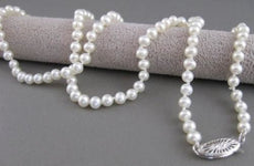 "ESTATE 4.5- 5MM SOUTH SEA PEARL 14K WHITE GOLD PRINCESS NECKLACE 18"" INCH #21026"