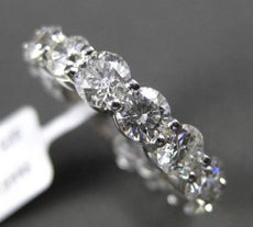 ESTATE WIDE 5.58CT DIAMOND 14KT WHITE GOLD SHARED PRONG ETERNITY RING AMAZING!