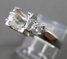 ESTATE .28CT DIAMOND 14KT WHITE GOLD LUCIDA SEMI MOUNT ENGAGEMENT RING #6381