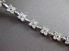 ANTIQUE .40CT DIAMOND 14KT WHITE GOLD FLOWER BUTTERFLY TENNIS BRACELET #1473