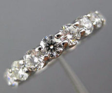 ESTATE LARGE 4CT DIAMOND 14K WHITE GOLD CLASSIC ETERNITY ANNIVERSARY RING #26175