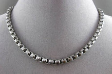 ESTATE WIDE 925 SILVER ITALIAN HANDCRAFTED SQUARE LINK CHAIN NECKLACE #24075