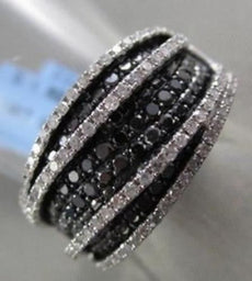 ESTATE WIDE 14KT 1.60CT WHITE & BLACK DIAMOND PAVE COCKTAIL RING ONE OF A KIND!!