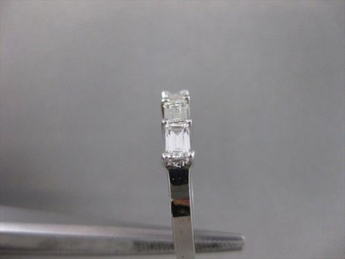 ANTIQUE 1.25CTW DIAMOND 14KT WHITE GOLD WEDDING ANNIVERSARY RING F/G VVS #18890