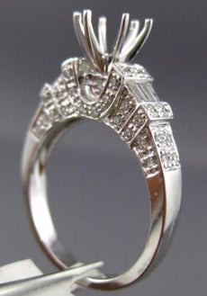 ESTATE .65CT DIAMOND 14KT WHITE GOLD 3D FILIGREE SEMI MOUNT ENGAGEMENT RING 1334