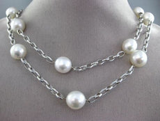 ESTATE EXTRA LONG 14KT WHITE GOLD 3D AAA SOUTH SEA PEARL BY THE YARD NECKLACE