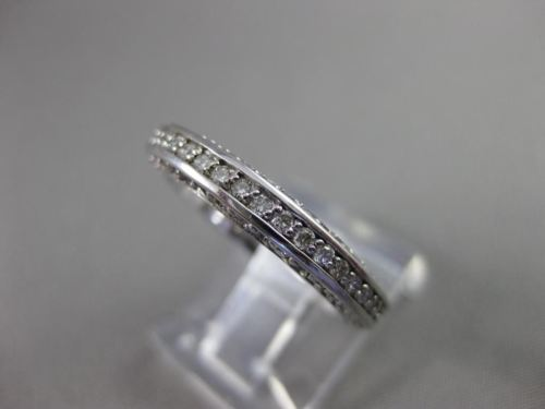 ANTIQUE 1.20CT ROUND DIAMOND 14K WHITE GOLD 3D FILIGREE ETERNITY RING 3mm #17735