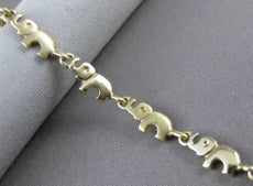 ESTATE 14KT WHITE & YELLOW GOLD ELEPHANT BRACELET SIMPLY BEAUTIFUL! #23296