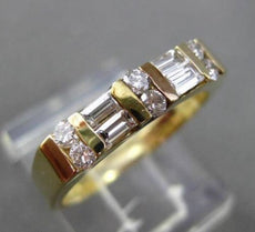ESTATE .45CT DIAMOND 14KT YELLOW GOLD 2 ROW FLAT WEDDING ANNIVERSARY RING #4340