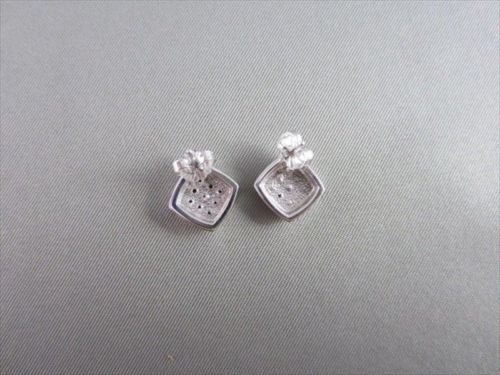 ANTIQUE 14KT WHITE GOLD .30CT DIAMOND SQUARE EARRINGS SIMPLE AND BEAUTIFUL!!!!!!