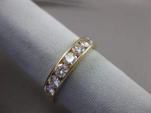 ESTATE 1.20CT DIAMOND 14KT YELLOW GOLD 8 STONE CHANNEL ANNIVERSARY RING #21015