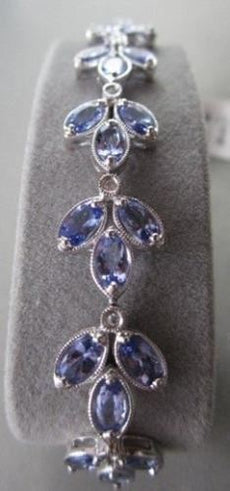 ANTIQUE 14KT WHITE 8.81CTW DIAMOND & TANZANITE BRACELET