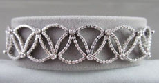 ANTIQUE 4.01CTW WIDE FILIGREE 14KT DIAMOND TRIANGLE BRACELET AMAZING!!!!