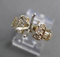 ESTATE WIDE .49CT DIAMOND 14KT YELLOW GOLD SEMI MOUNT ENGAGEMENT RING #4117