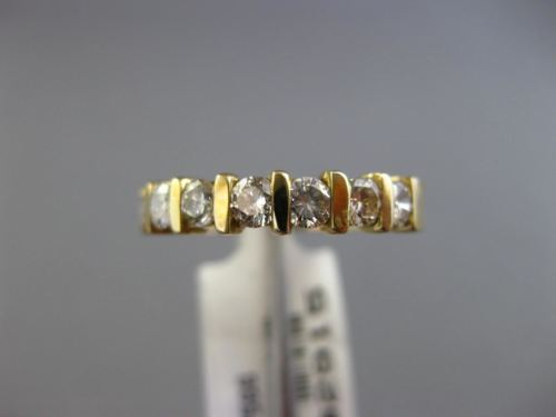 .73CT DIAMOND 14KT YELLOW GOLD 3D 7 STONE SEMI ETERNITY WEDDING ANNIVERSARY RING