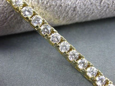 ESTATE WIDE 6.15CT DIAMOND 14K YELLOW GOLD TENNIS BRACELET SIMPLY STUNNING 15475