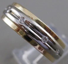 ESTATE DIAMOND 14K WHITE YELLOW GOLD MENS ETERNITY WEDDING BAND 6.5M RING #21510