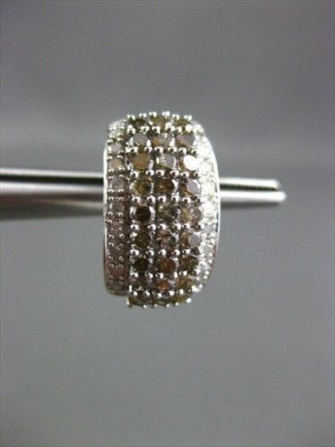 ESTATE WIDE 1.20CT WHITE & FANCY DIAMOND 14KT WHITE GOLD CLIP ON EARRINGS 22345