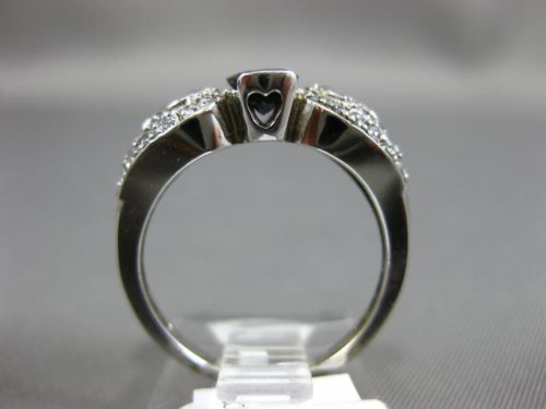 ANTIQUE 1.50CT DIAMOND & AAA OVAL SAPPHIRE 14KT WHITE GOLD HEART ENGAGEMENT RING