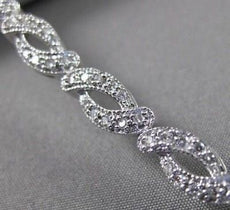 ESTATE WIDE 2.3CT DIAMOND 14K WHITE GOLD INFINITY TENNIS BRACELET STUNNING 12193