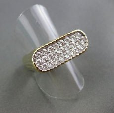 ESTATE 1.60CT DIAMOND 18KT W&Y GOLD SQUARE MENS PINKY RING E/F VVS SHARP! #22082