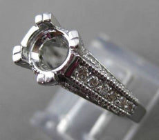 ESTATE .84CT DIAMOND 14KT WHITE GOLD FISHTAIL SEMI MOUNT ENGAGEMENT RING #14248