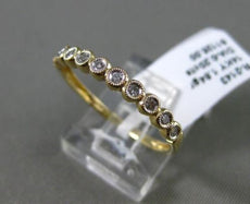 ESTATE .20CT DIAMOND 14KT YELLOW GOLD 3D 10 STONE CLASSIC MILGRAIN WEDDING RING