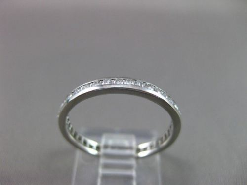 ESTATE 0.70CT ROUND DIAMOND PLATINUM ETERNITY ANNIVERSARY RING 2MM F/G VS #21686