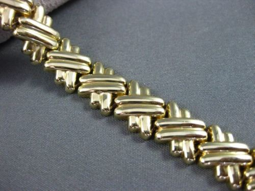 ESTATE WIDE & LONG 14KT YELLOW GOLD & BLACK ONYX TOGGLE BRACELET UNIQUE! #22576