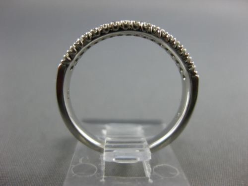 .50CT DIAMOND 14KT WHITE GOLD MULTI ROW FILIGREE SEMI ETERNITY ANNIVERSARY RING