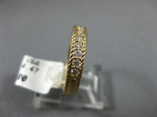 .32CT DIAMOND 14KT YELLOW GOLD 3D SEMI ETERNITY ROPE FILIGREE ANNIVERSARY RING