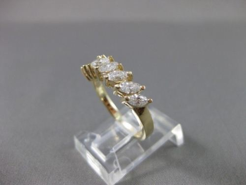 ESTATE 1.07CT MARQUISE DIAMOND 14KT YELLOW GOLD 7 STONE ANNIVERSARY RING #11546