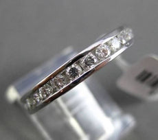 ESTATE 1.15CT ROUND DIAMOND 14KT WHITE GOLD CLASSIC CHANNEL ETERNITY RING 3.5mm