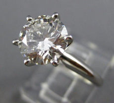 GIA 2.31CT ROUND DIAMOND H SI1 EXCELLENT CUT CLASSIC PLATINUM ENGAGEMENT RING
