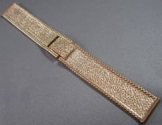"ESTATE FANCY 18MM WIDE 18KT YELLOW GOLD SOLID MENS WATCH BAND 6-6.25"" #21847"