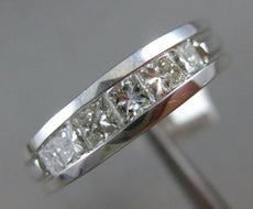 ESTATE 1.45CT PRINCESS DIAMOND 14KT WHITE GOLD 3D WEDDING ANNIVERSARY RING 1302