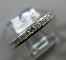 ESTATE .30CT DIAMOND 14KT WHITE GOLD CHANNEL 3D WEDDING ANNIVERSARY RING 18732