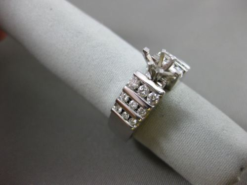 ESTATE WIDE DIAMOND .60CT DIAMOND 14KT WHITE GOLD 3D SEMI MOUNT ENGAGEMENT RING