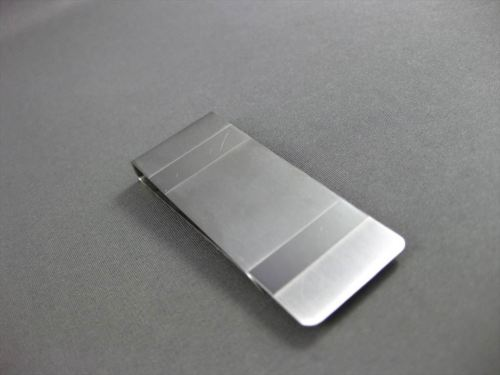 ESTATE LARGE 14KT WHITE GOLD RECTANGULAR ENGRAVABLE MONEY CLIP AMAZING!!!#22874