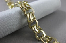 ESTATE WIDE 14KT YELLOW GOLD CLASSIC CHARM BRACELET SIMPLY AMAZING!!!! #22588