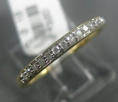 ESTATE .10CT DIAMOND 14KT YELLOW GOLD 3D CLASSIC ROUND WEDDING ANNIVERSARY RING