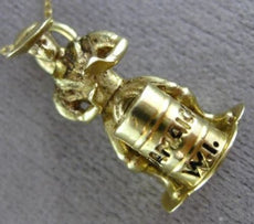 ANTIQUE 14KT YELLOW GOLD 3D HANDCRAFTED SHINY NEW ORLEANS JAMAICAN DRUMMER CHARM